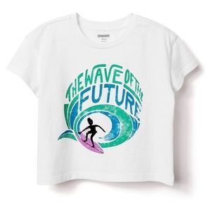 Gymboree Surf Cropped Tee Shirt WAVE OF THE FUTURE